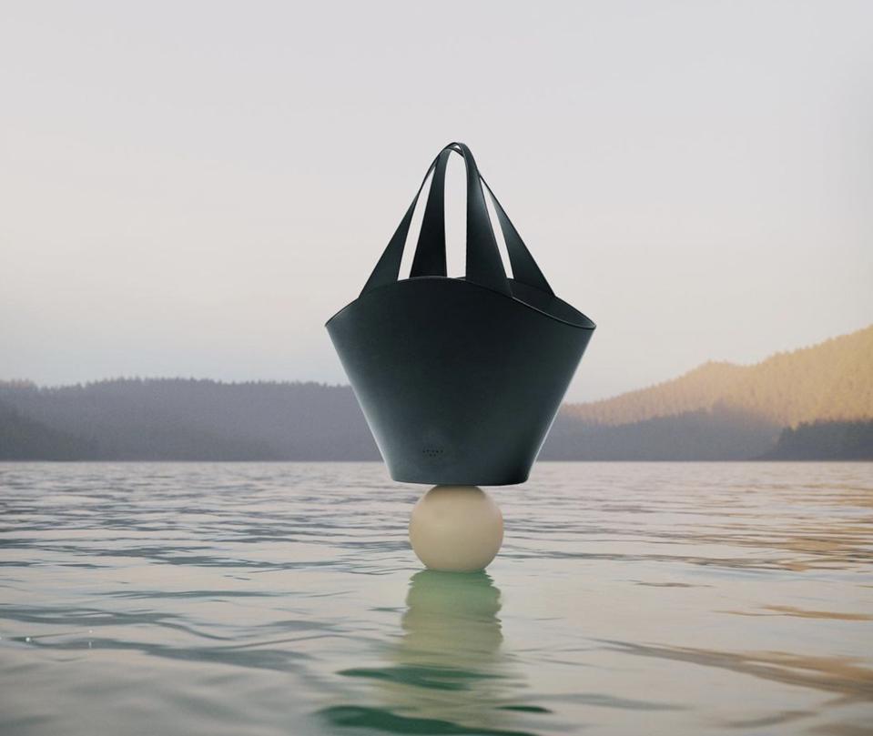 black basket bag