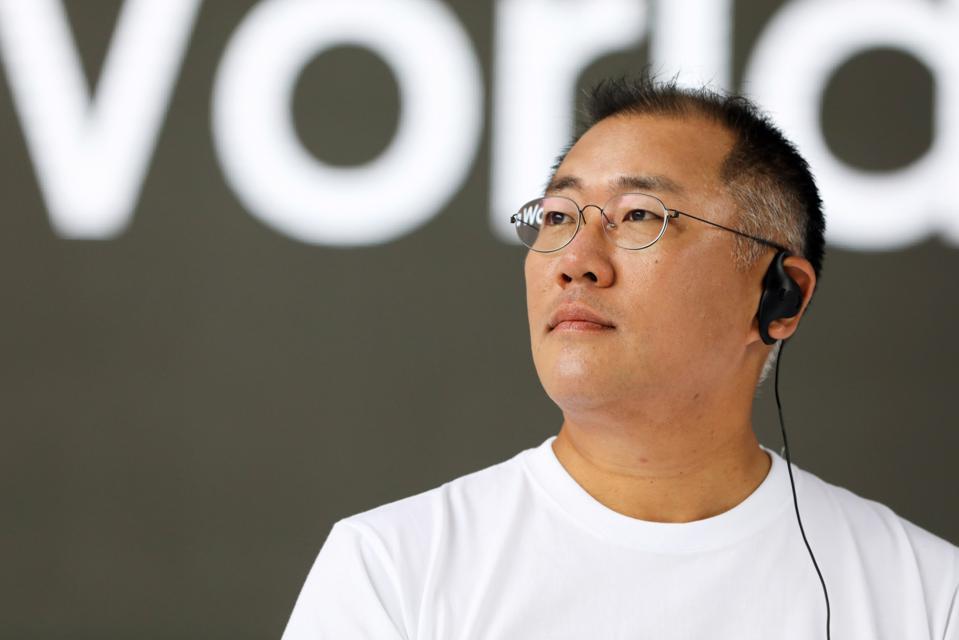 Hyundai Motor Vice-Chairmen Chung Eui-sun Unveils First Compact SUV Kona