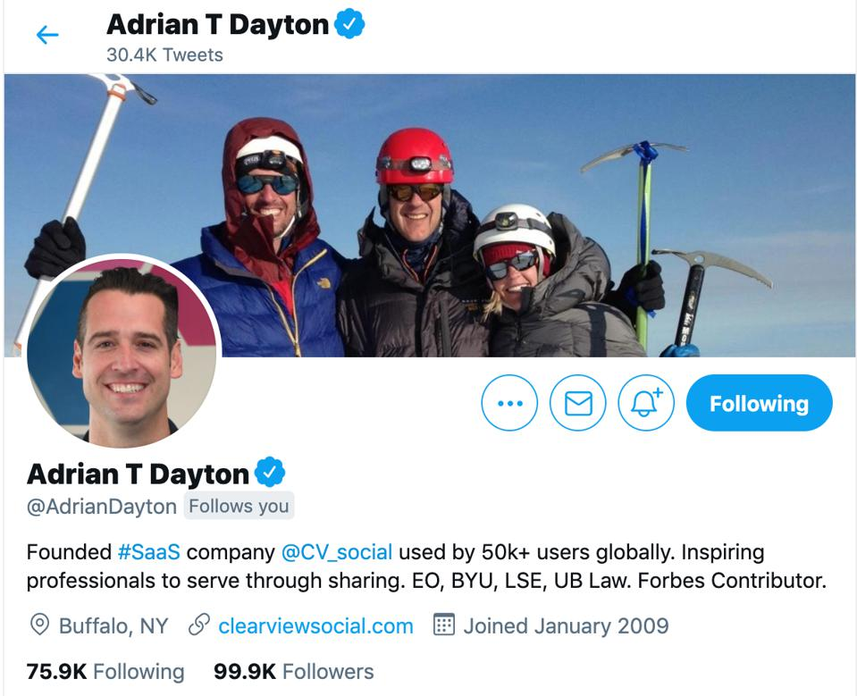 Adrian T Dayton's Twitter Profile
