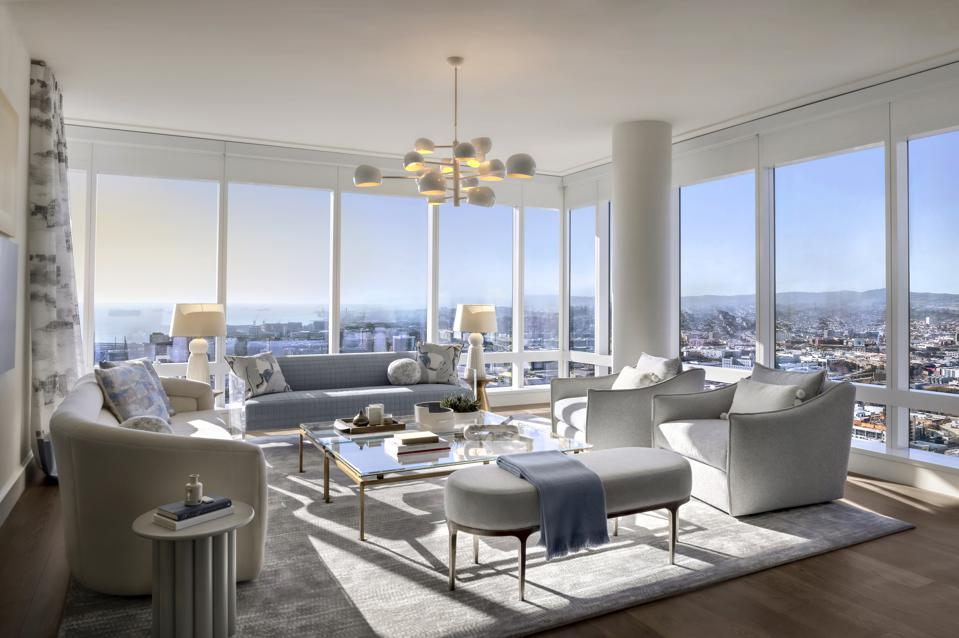 Interior of the new Four Seasons Private Residences in San Francisco.