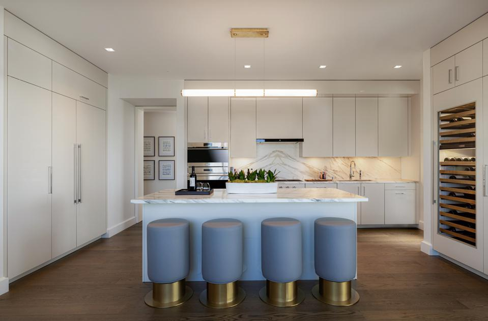 Personalized kitchens have been configured based on the buyer's preference.