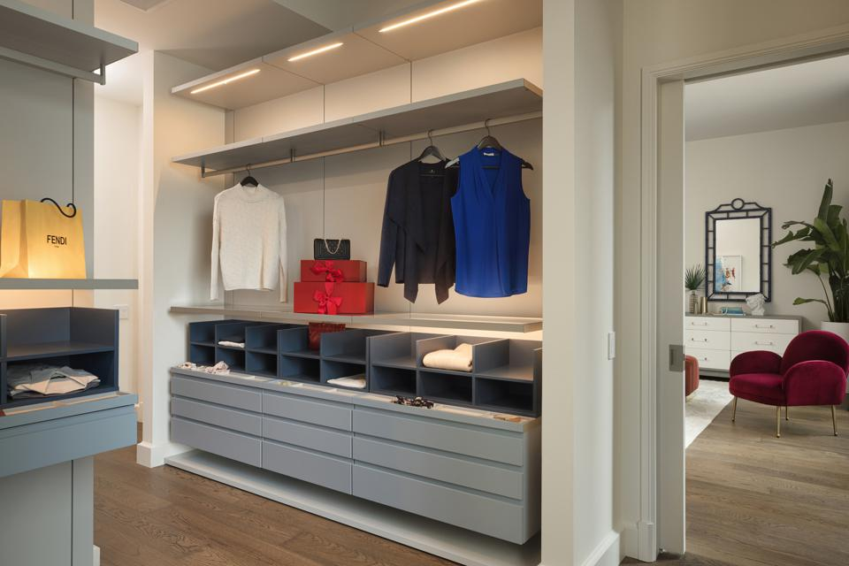 Dressing rooms are a distinct design focus of The Penthouse Collection.