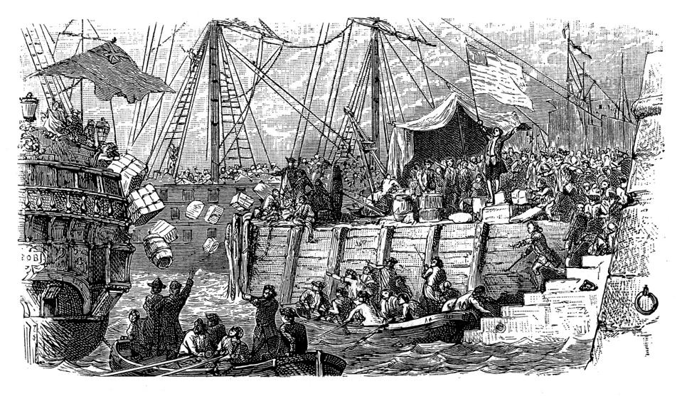 The Boston Tea Party was a political protest by the Sons of Liberty in Boston, Massachusetts, on December 16, 1773