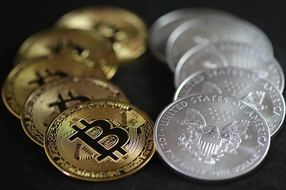 Silver American Eagle Bullion Coins And Bitcoin