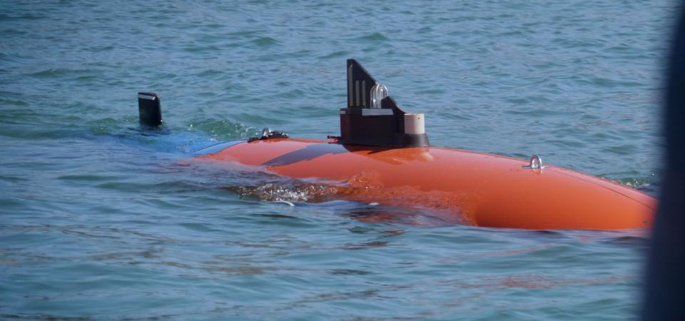 The Abraham sub during the Lake Travis test