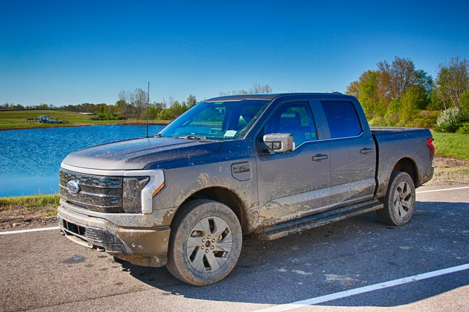 The 2023 Ford F-150 Lightning prototype had no problem with playing in the mud