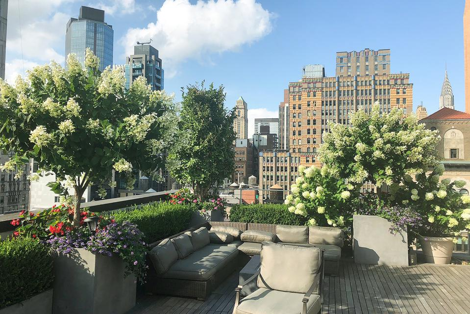 outdoor Manhattan terrace 45 East 30th Street, Penthouse B New York, NY, USA