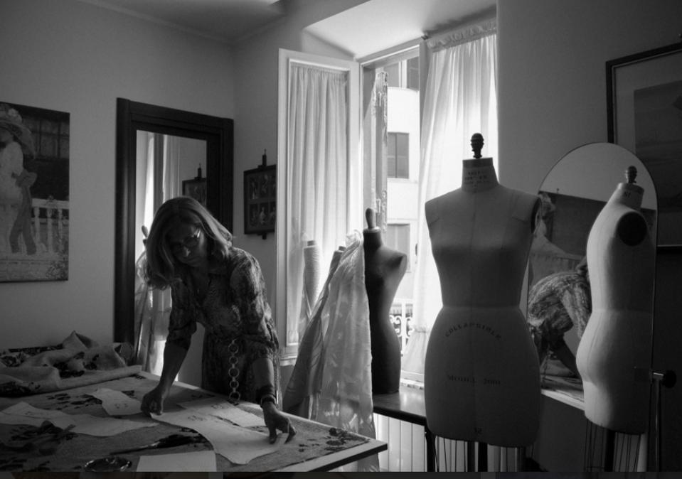 Cinzia Ferri at work in her atelier