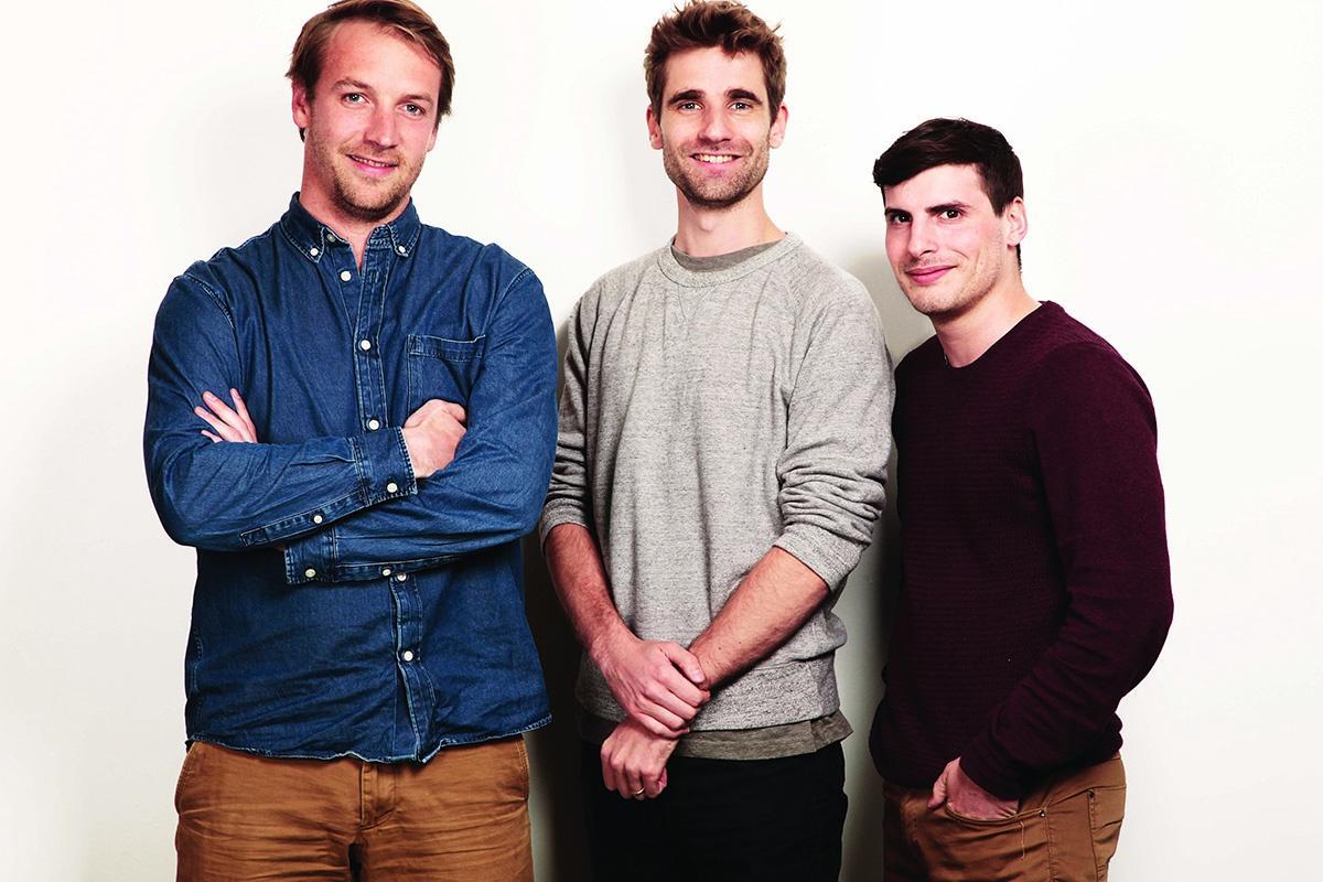 Back Market cofounders Thibaud Hug de Larauze, Vianney Vaute, Quentin La Brouster