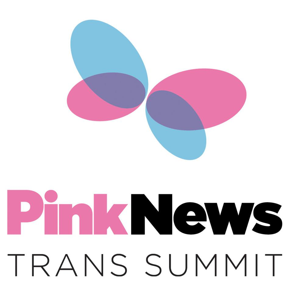 This is the butterfly logo for the Pink News Trans Summit.