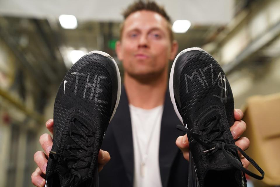 The Miz's autographed shoes to be donated as part of a charitable auction with Soles4Souls.
