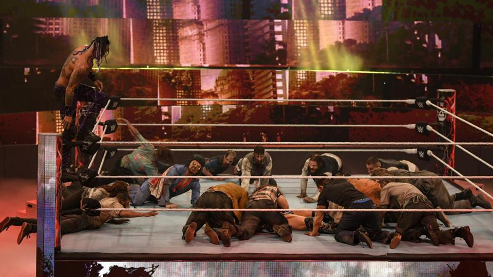 The Miz is swarmed by a horde of zombies at WWE WrestleMania Backlash.