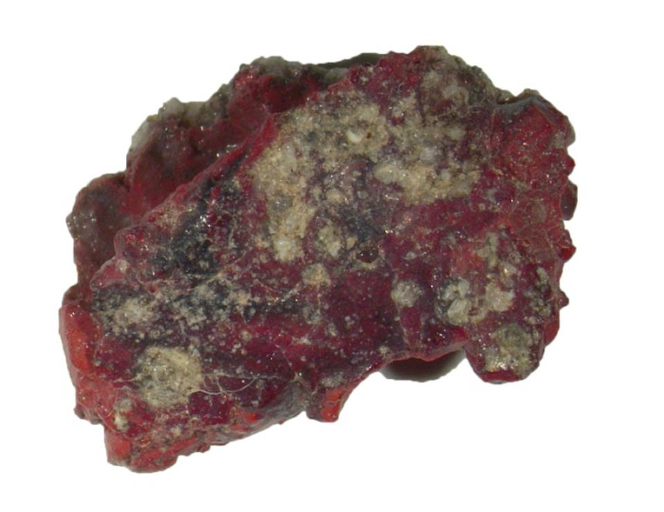 Image of red trinitite sample which contained the quasicrystal.