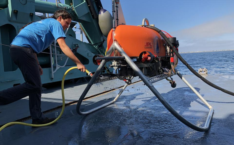 The Orpheus submersible robot.
