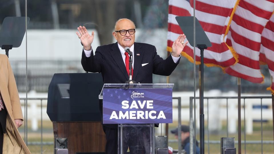 Rudy Giuliani at Jan. 6 rally