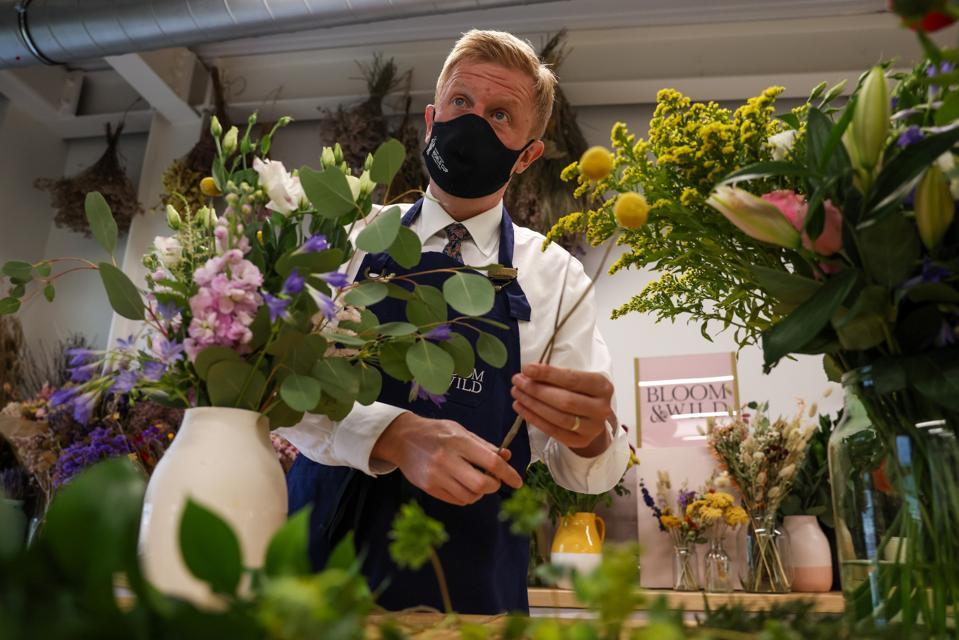 U.K.'s Digital Secretary Oliver Dowden visits Bloom & Wild in London