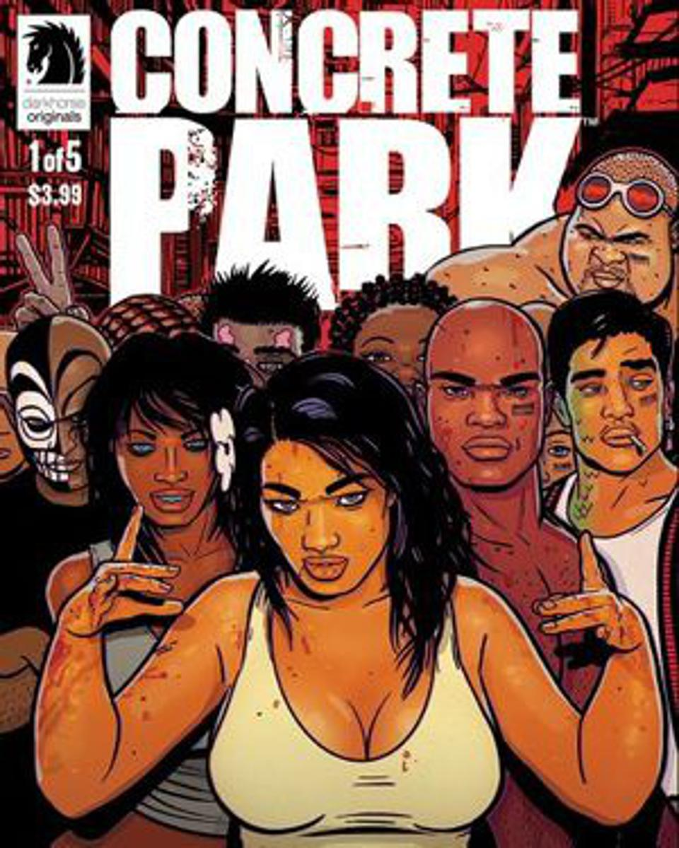 Cover art from Concrete Park comic book.