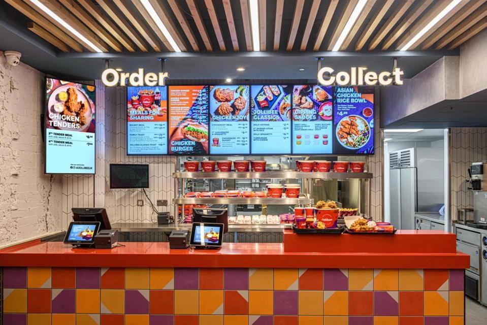 Hamburguesa de pollo Jollibee Leicester Square