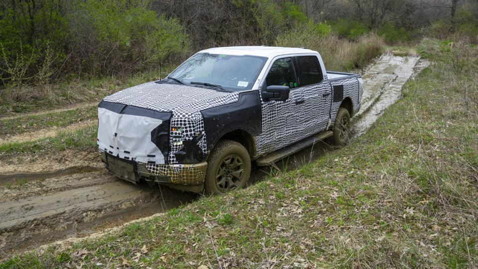 2023 Ford F-150 Lightning electric pickup goes off-road