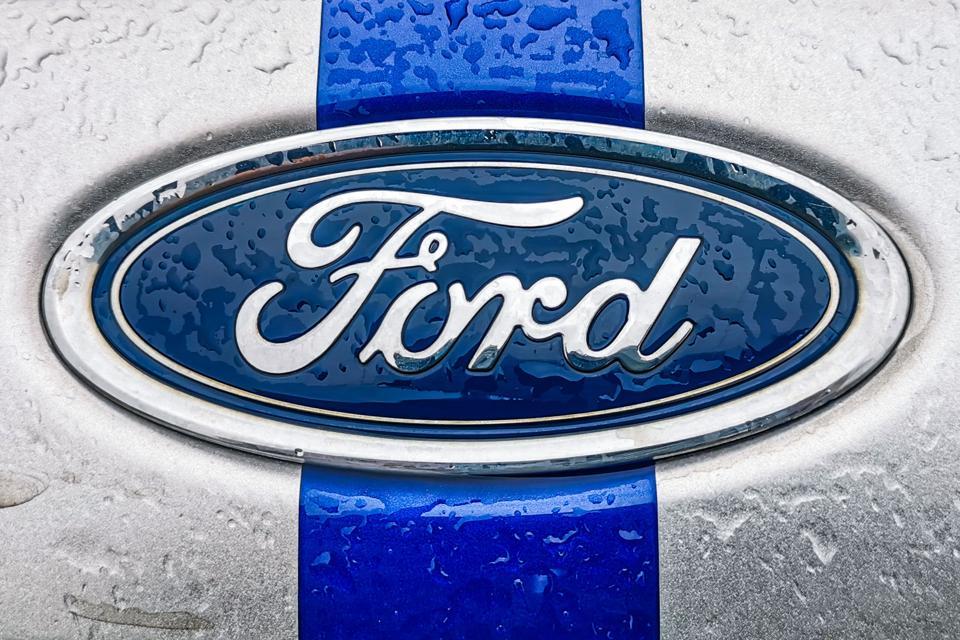 Car Logos On A Rainy Day