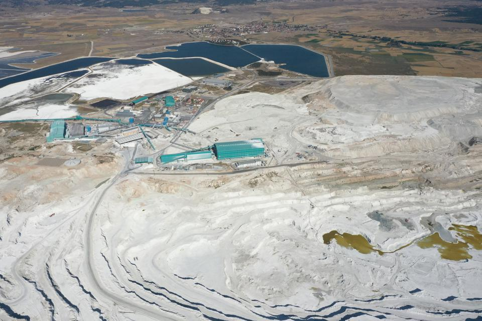 Preparations continue at the facility to produce lithium in Turkey's Eskisehir province