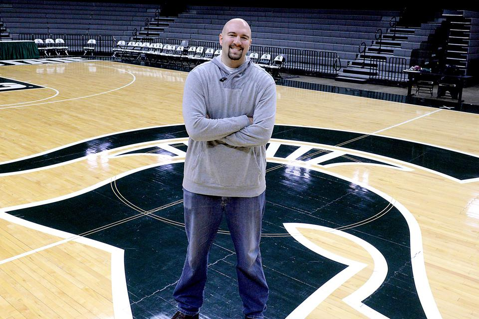 Former Michigan State basketball player Anthony Ianni in the Breslin Center.