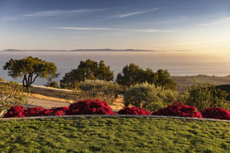 view of channel islands from luxury home in carpinteria santa barbara county