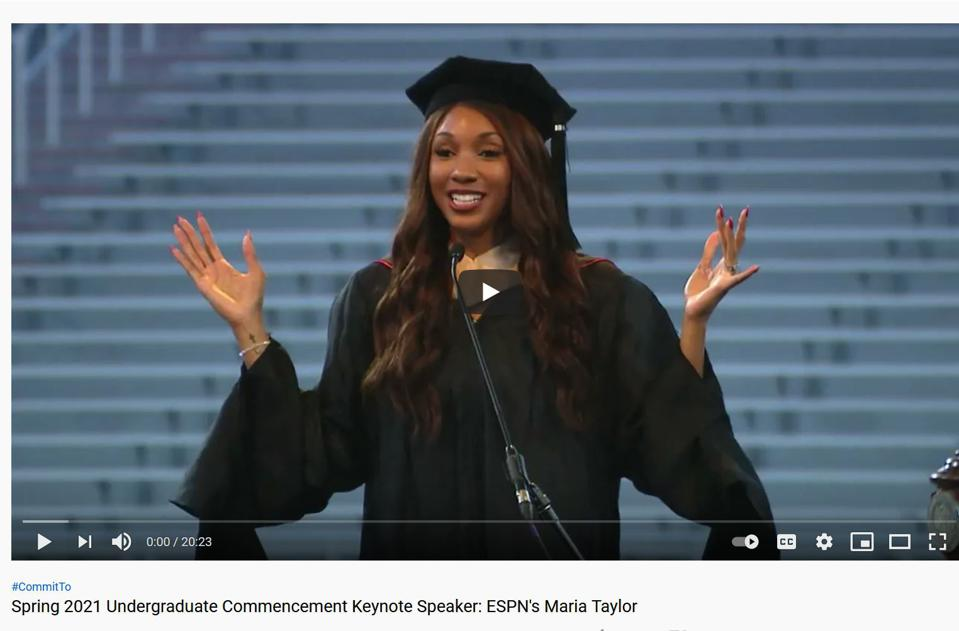Maria Taylor, ESPN reporter, gives University of Georgia 2021 commencement address