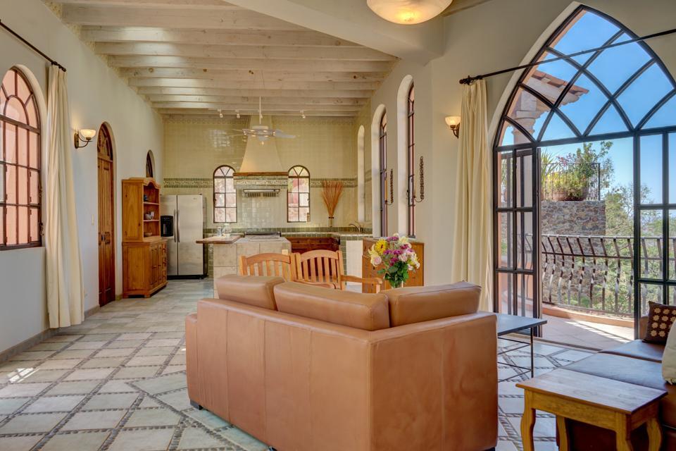view and kitchen inside casa enclave cdr san miguel de allende