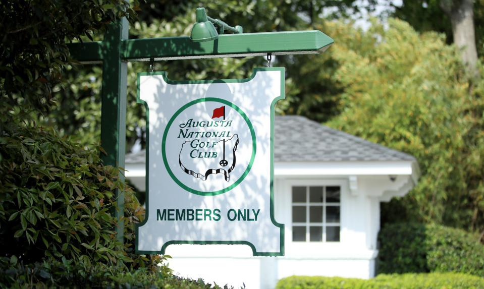 Members only at Augusta National Golf Club