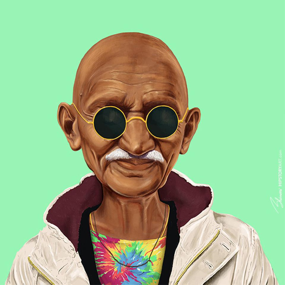 Mahatma Gandhi by Amit Shimoni of HIPSTORY