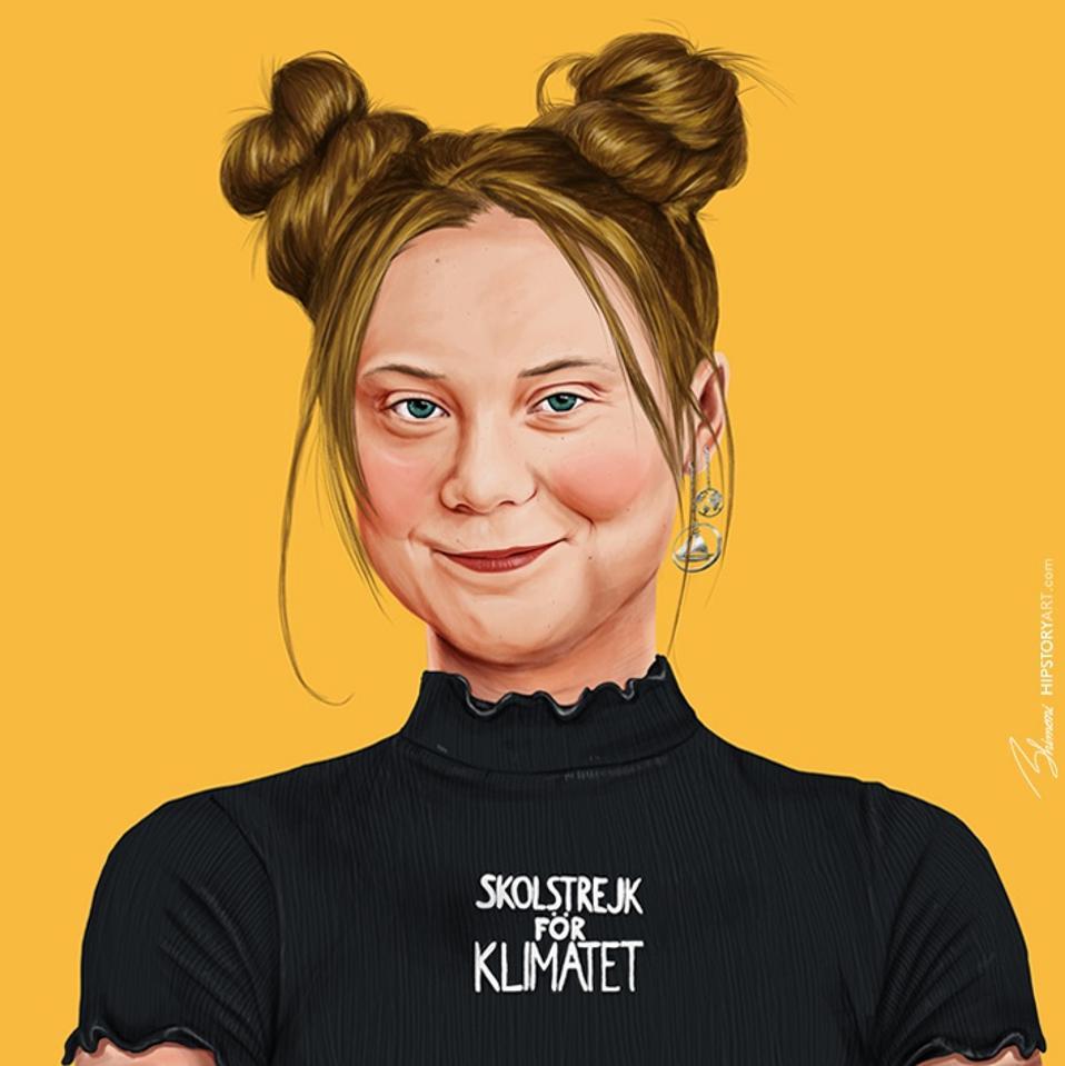 Greta Thunberg by Amit Shimoni of HIPSTORY