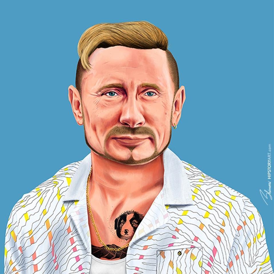 Vladimir Putin by Amit Shimoni of HIPSTORY