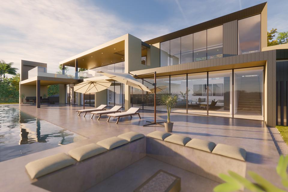 2600 hutton drive exterior contemporary house beverly hills