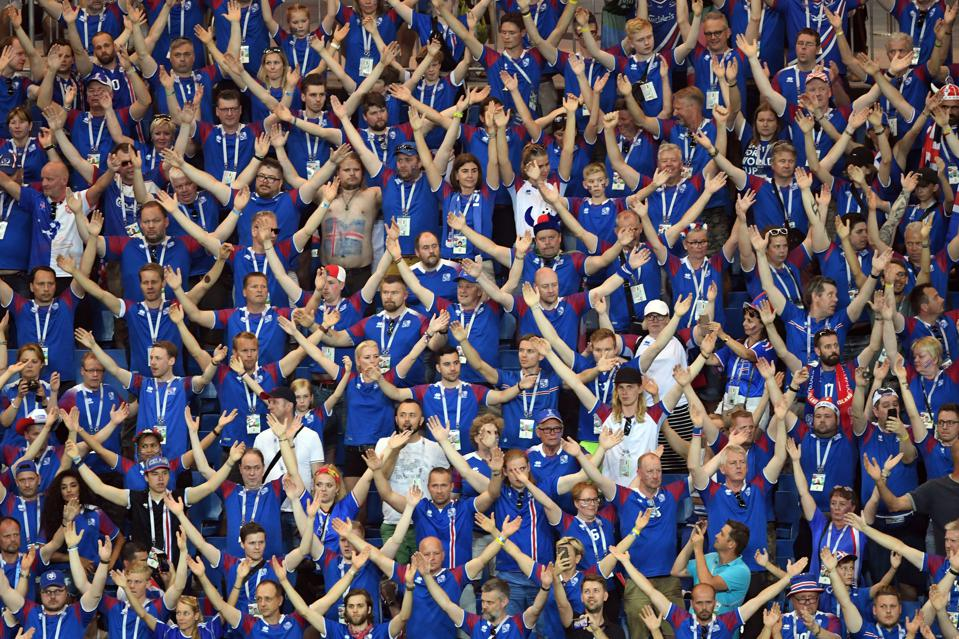 Iceland fans at Russia 2018 World Cup
