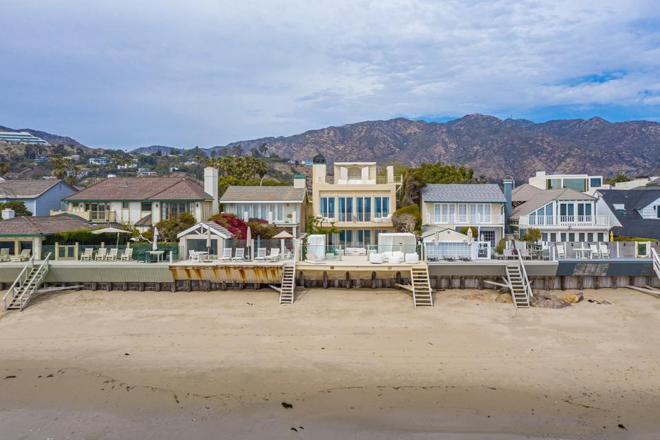 row of beachfront homes including 23634 Malibu Colony Rd #50 Malibu, CA