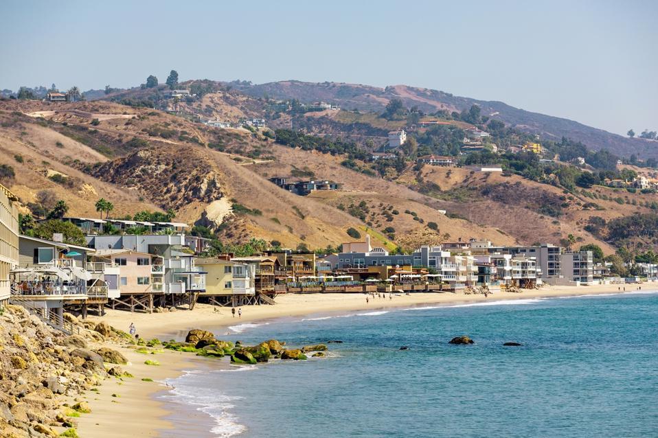 Beach in Malibu on a sunny day, LA, California, USA