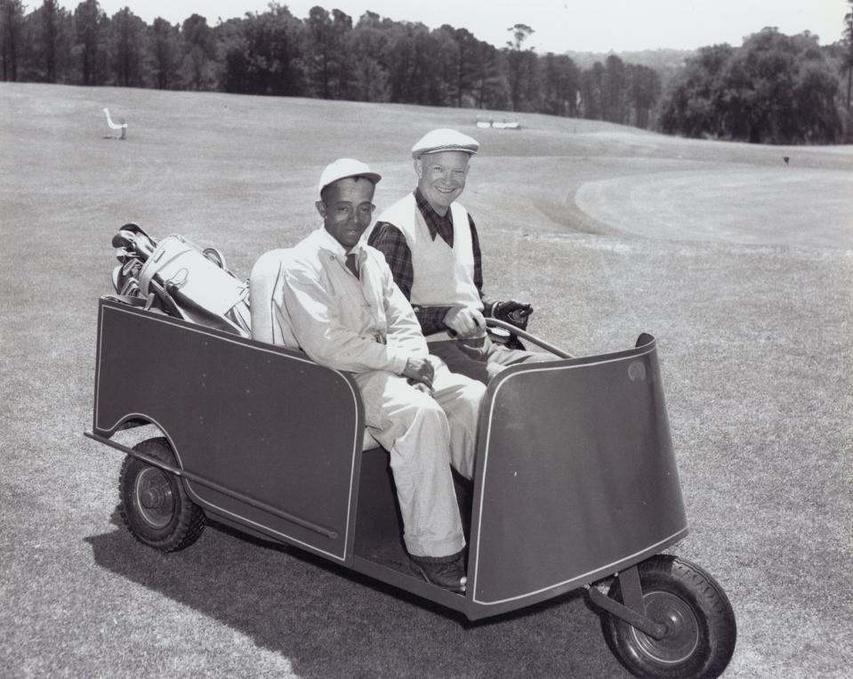 President Dwight D Eisenhower And Willie ″Cemetary″ Parteet In 1953