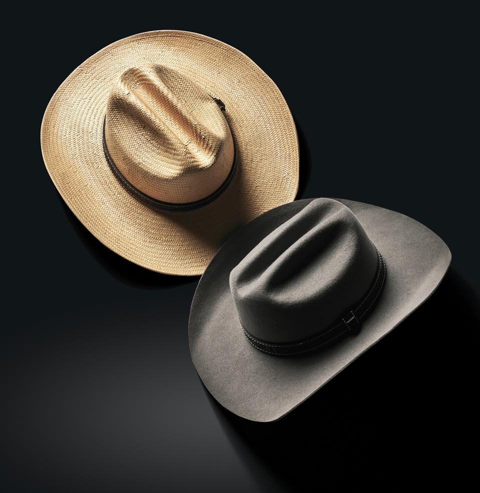 A classic Western silhouette made in both felt and straw, inspired by the lonesome wandering of old country.