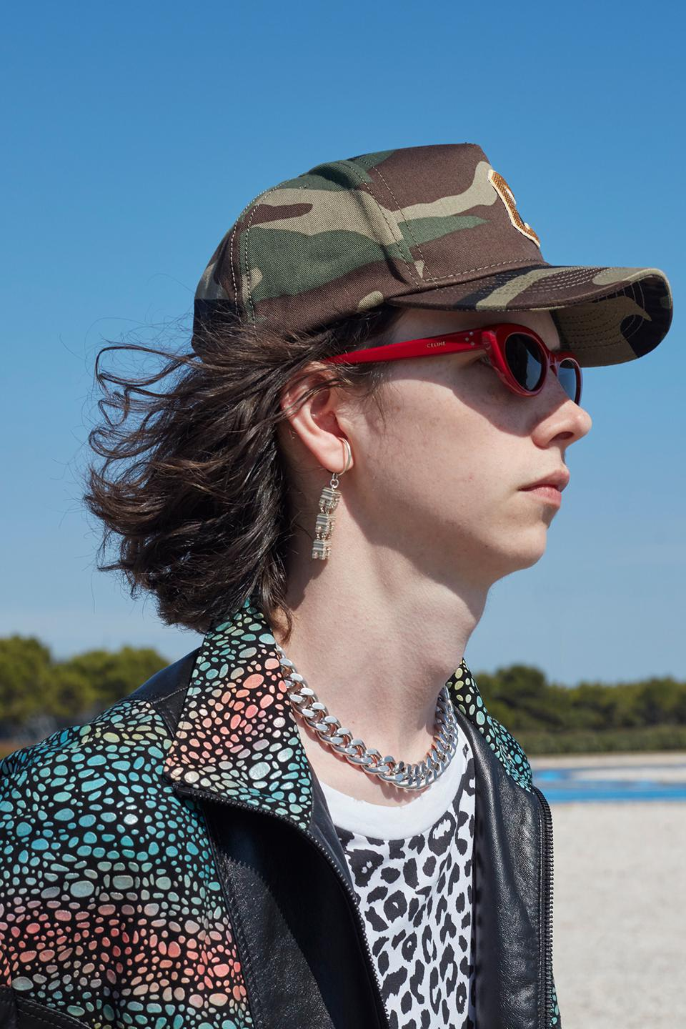 CAP IN COTTON WITH CAMOUFLAGE PRINT
