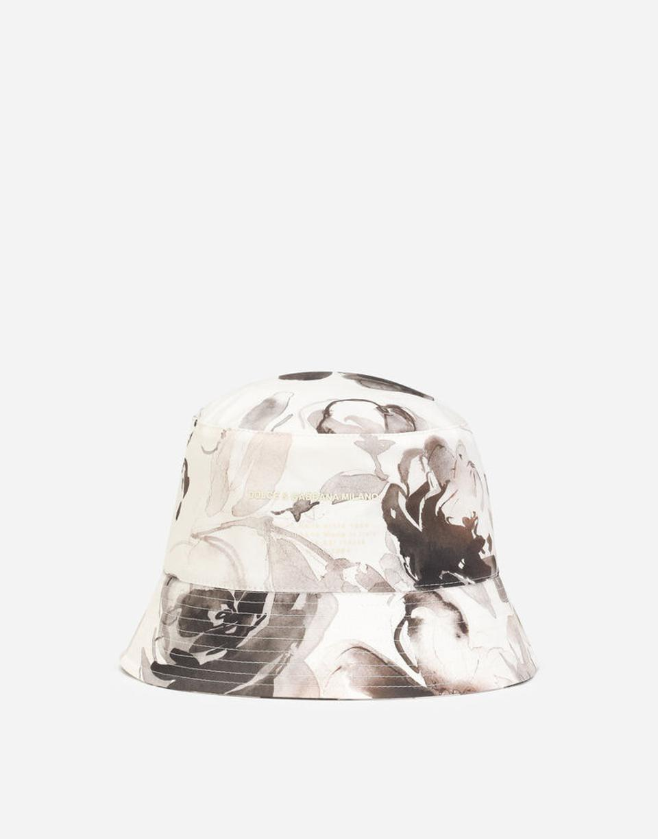 Dolce&Gabbana stretch cotton bucket hat with floral print