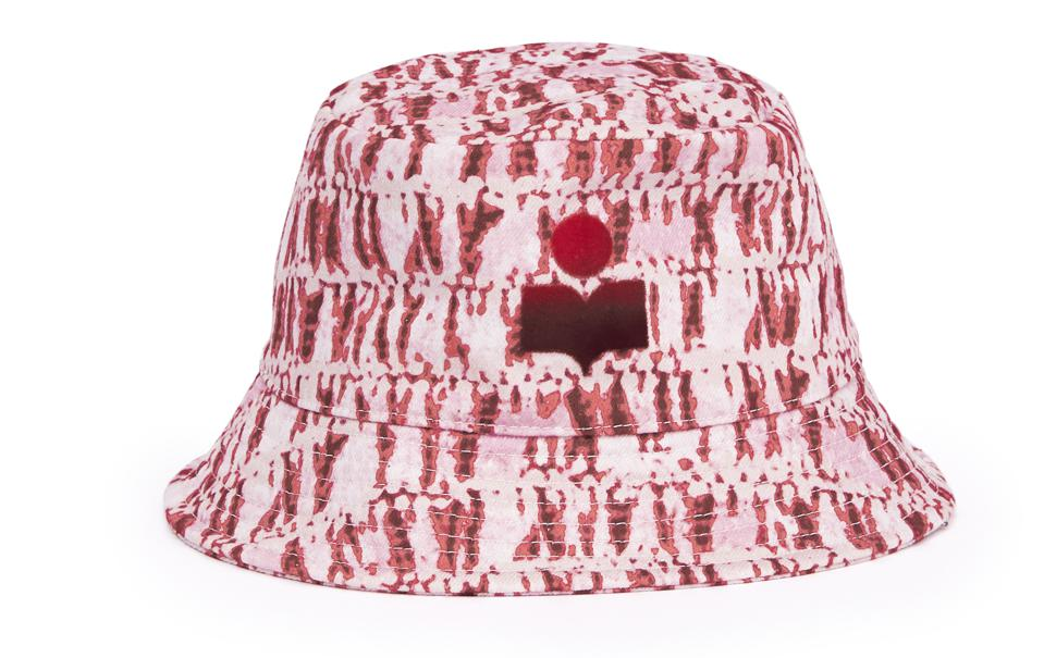"""Tie-dye cotton bucket hat with """"Isabel Marant″ embroidered logo"""