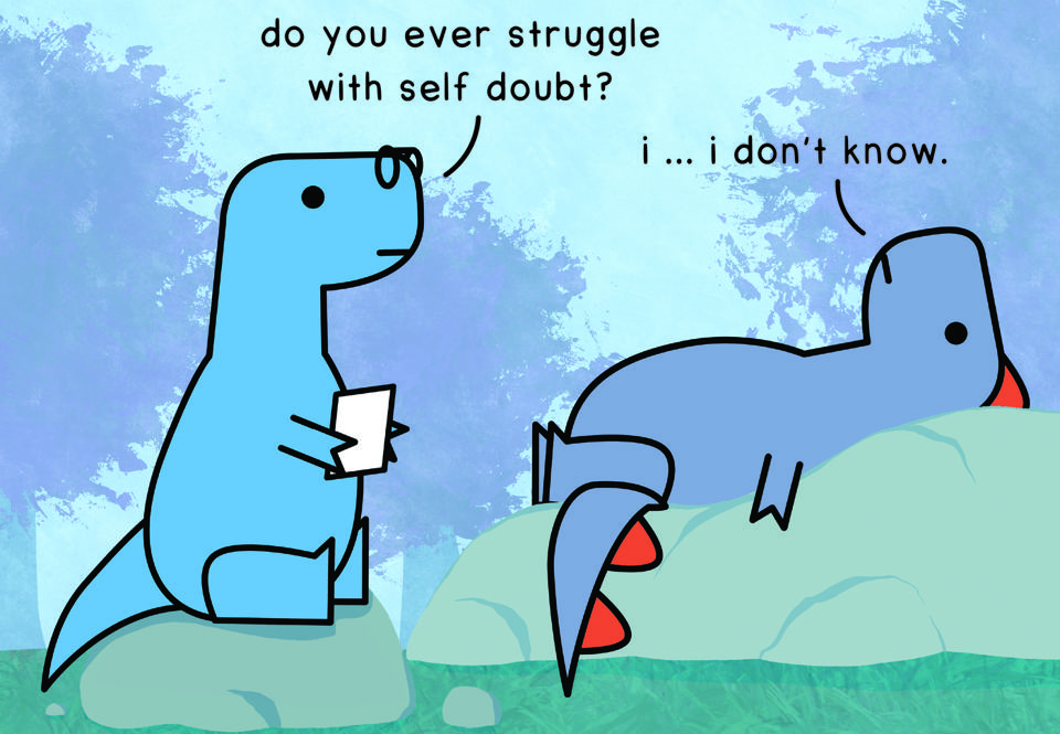 One example of A drawing by Dinos and Comics that discussed mental health.