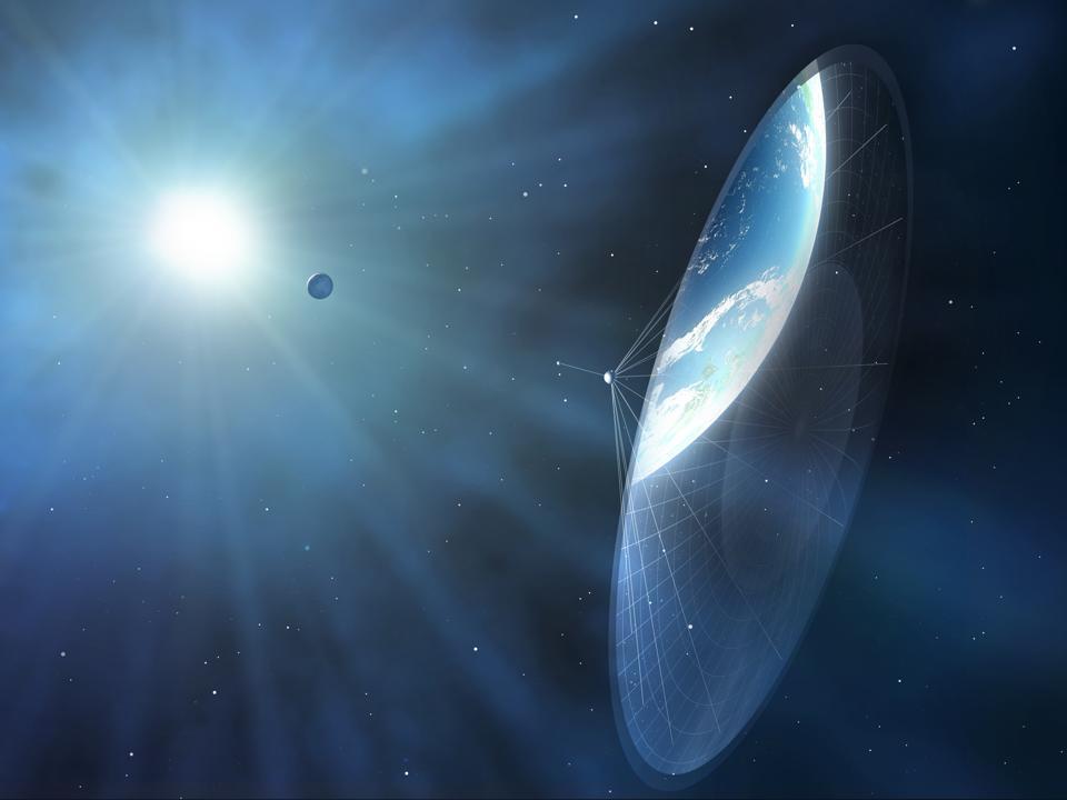 Solar sail, illustration