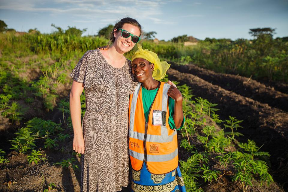 In 2017, before COVID-19 changed the world, Amy celebrates a frontline health worker in rural Zambia