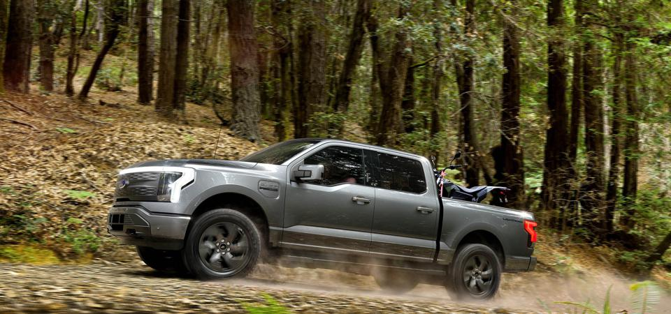 Ford F-150 Lightning going off road