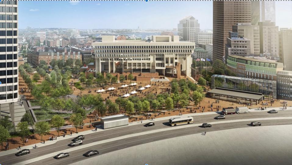 Boston City Hall and its Plaza.
