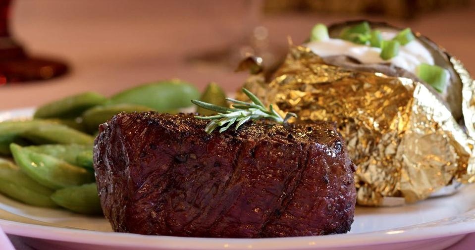 The Alex Madonna Steakhouse serves a classic menu that dates back to 1958.