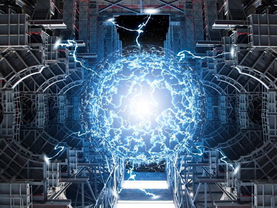 Conceptual, high tech, power plant
