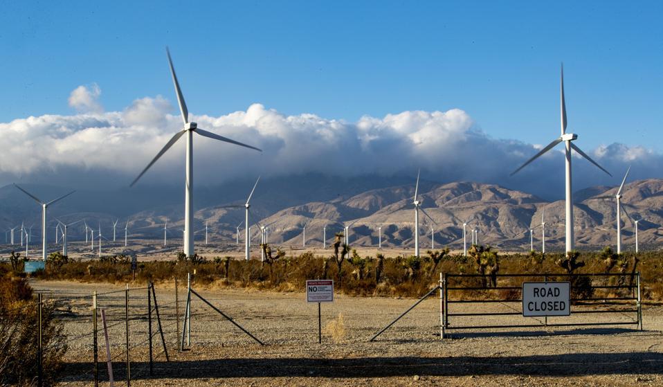 Wind Turbines in Rosamond, CA.